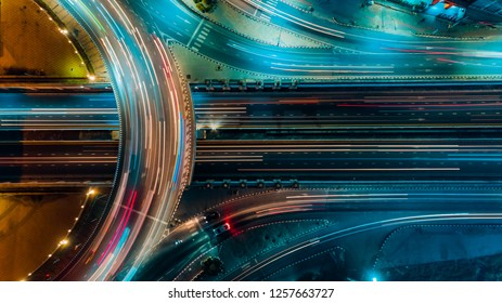 Expressway top view, Road traffic an important infrastructure in Thailand - Shutterstock ID 1257663727