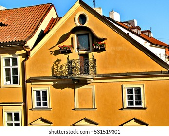 Exquisite architecture of the beautiful Czech capital city of Prague on a warm summer day