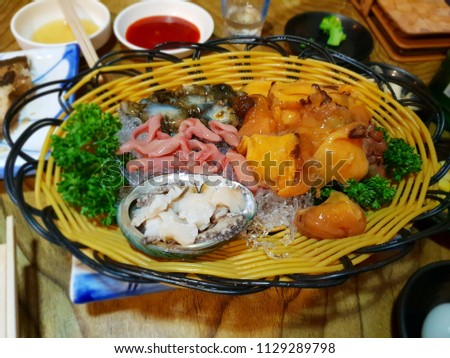 Exquisite Flavor Raw Seafood Set Menu Stock Photo Edit Now