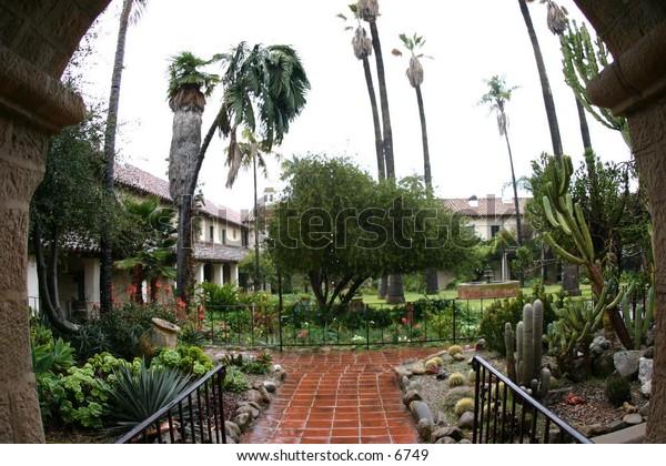 exquisite garden in courtyard