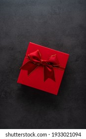 Exquisite gift box on black background