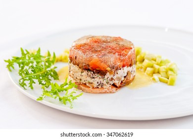Exquisite Terrine made of Green Lentils and Smoke-Cured Salmon