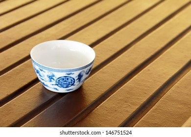 exquisite traditional Chinese tea cup on the desk, china