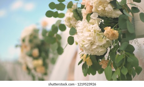 Royalty Free Exquisite Decoration Wedding Hall Stock Images Photos