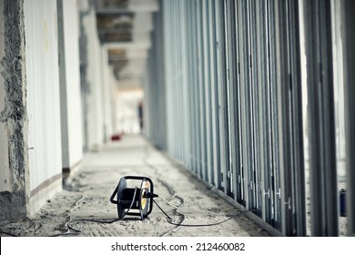 Extension cord at construction site