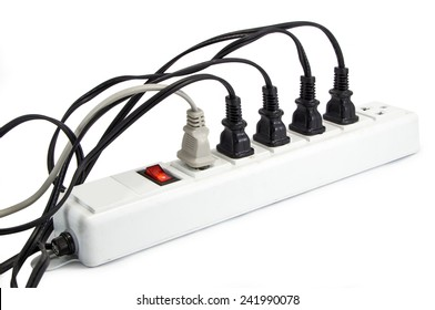 Extension cord with multiple asian plugs