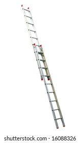 Extension Ladder isolated with clipping path