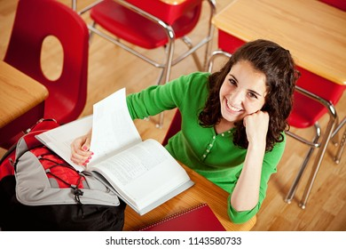 Extensive series with high school students in class.  Multi-ethnic group.