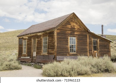 Exterior of abandoned house in Bodie State Historic Park, CA.