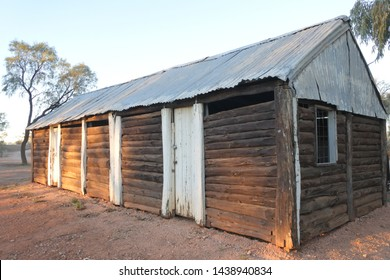 Exterior of abandoned old barn in the Northern Territory outback of Australia.