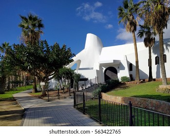 Exterior of a Aguadulce church. Aguadulce is a spanish locality of Roquetas de Mar, province of Almeria. Spain