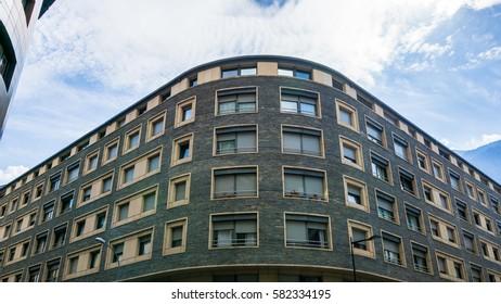 exterior of an apartment building