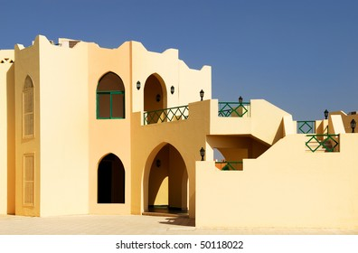 Exterior in arabian architecture style