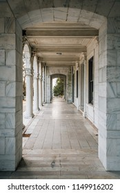 Exterior arches of Swannanoa Palace in Afton, Virginia