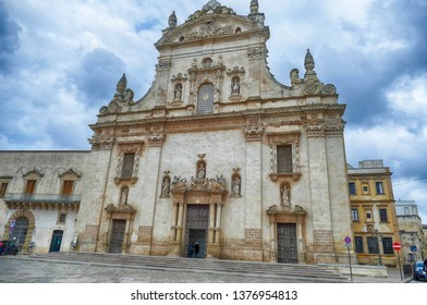 Exterior of baroque Church of Sts. Peter and Paul, Galatina, Puglia, Italy
