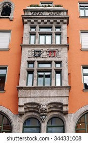 Exterior of a beautiful house on Sendlinger Strasse, Munich, Germany