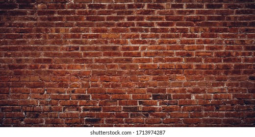 Exterior brick wall texture background.