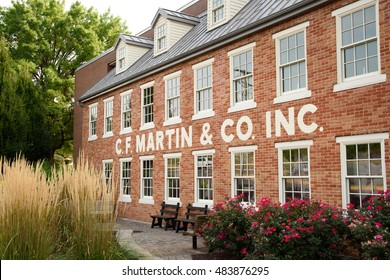 The exterior of the C. F. Martin & Company building in Nazareth, Pennsylvania, USA on September 10, 2016.