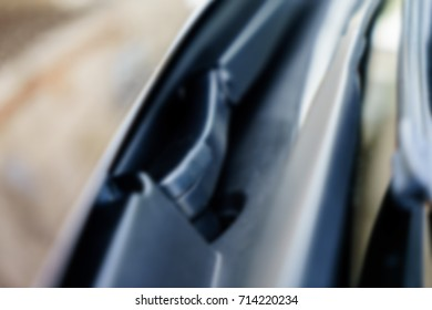 Exterior of the car blurred abstract background