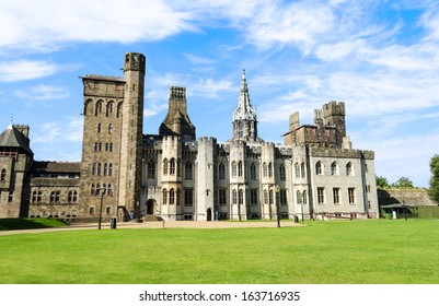 Exterior of Cardiff Castle - Wales, United Kingdom