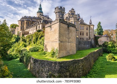 Exterior of castle in Frydlant city - one of the most visited tourist attraction in Czech Republic