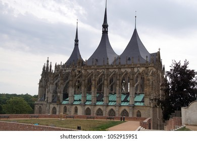 Exterior of cathedral in  Kutna Hora, Czech Republic