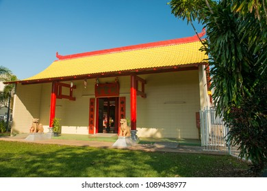 The exterior of the Chinese Temple in Darwin, Australia