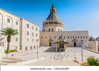 Exterior of Church of the Annunciation or the Basilica of the Annunciation in the city of Nazareth in Galilee northern Israel.
