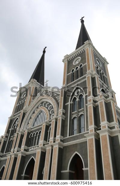 Exterior Church in Chan Tha Bu Ri province, Thailand