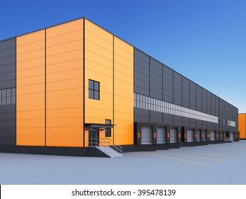 exterior of a commercial warehouse