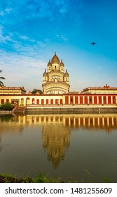 Exterior of The Dakshineswar Kali Temple was founded around the middle of the 19th century by Rani Rashmoni.