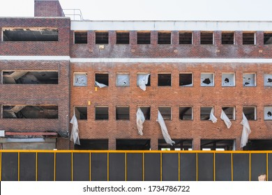 Exterior of a derelict building around Stratford, London