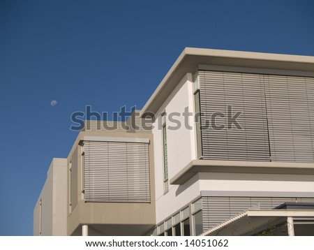 Exterior Detail Awning Facade Modern Home Stock Photo Edit Now