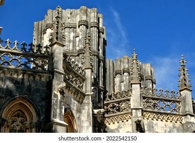 Exterior detail of the Batalha monastery in Portugal