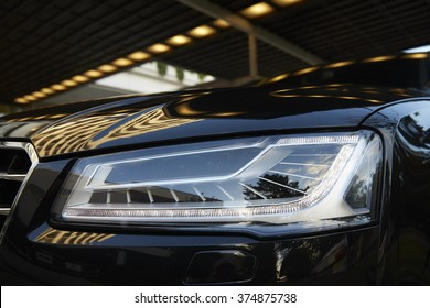 Exterior Detail of Car Headlight