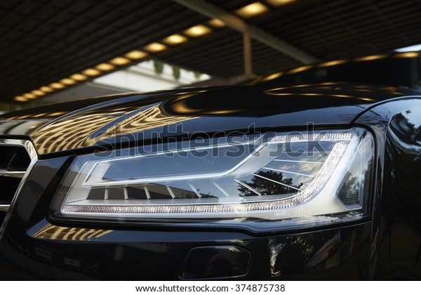 Außenansicht des Fahrzeugscheinwerfers