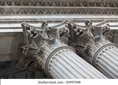 Exterior details of St.Paul's Cathedral, London, UK
