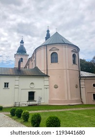 The exterior of Dominican convent in Borek Stary. The monastery was founded in the second half of the seventeenth century to take care of the holy image of Our Lady with infant Jesus.