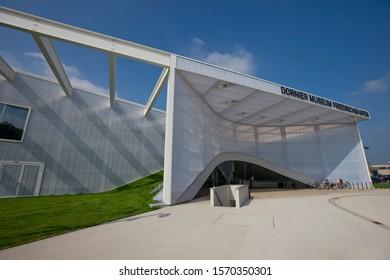 The exterior of the Dornier Museum, Friedrichshafen, Baden-Wurttemberg, Germany