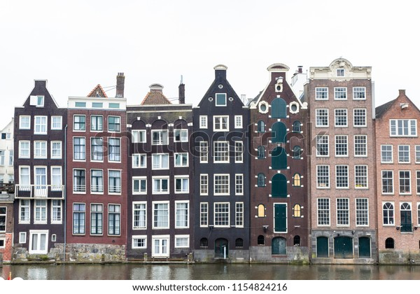 Exterior Facades Some Palaces Amsterdam Stock Photo (Edit Now