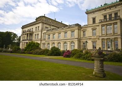 exterior of the famous Villa Huegel in Essen