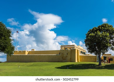 Exterior of Fort christiansted in St. Croix Virgin Islands