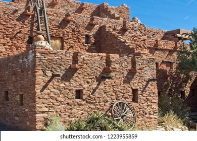 Exterior of historic Hopi House at the Grand Canyon south Rim village area.