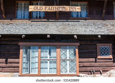 Exterior of the historic Old Faithful Inn in Yellowstone National Park