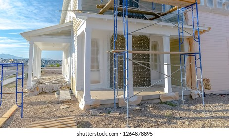 Exterior of home under construction in Daybreak UT