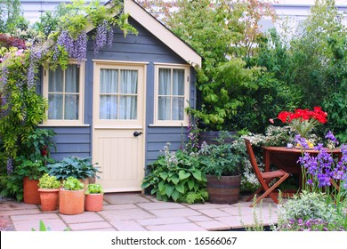 Exterior of a house with beautiful garden