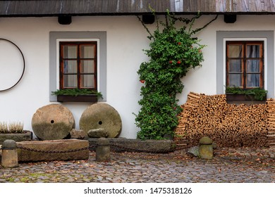 Exterior of house in the rural of Prague