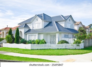 exterior of house in suburb