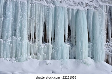 Exterior of ice cave, Grand Island, Lake Superior, Michigan's Upper Peninsula, USA