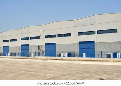 Exterior industrial warehouse